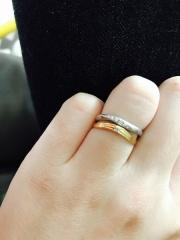 【4℃(ヨンドシー)の口コミ】 指につけた時のフィット感で即決でした! デザインも気に入りとんとん話が…