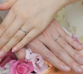 【スタージュエリー(STAR JEWELRY)の口コミ】 結婚指輪は料理の時以外はずっと付けていたいと思っていたので、飽きが来ず…