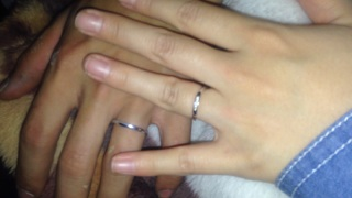 【4℃(ヨンドシー)の口コミ】 元はペアリングとして買おうという話でしたが、この指輪を見て一目惚れしま…