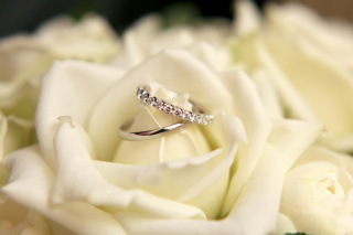 【Ponte Vecchio(ポンテヴェキオ)の口コミ】 ダイヤモンドがついている結婚指輪にしたいと以前から考えていました。 二…