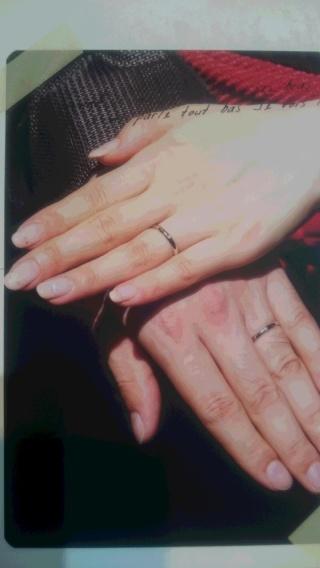 【カルティエ(Cartier)の口コミ】 婚約指輪は私の希望を優先してくれたので、結婚指輪は主人の希望通りのもの…