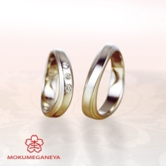 【JKPlanet(JKプラネット)】【杢目金屋】細身でシンプルながらも個性を演出できる結婚指輪
