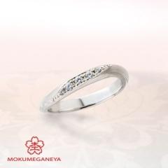 【JKPlanet(JKプラネット)】【杢目金屋】優美なカーブを描くアームが指を長く美しく見せるリング
