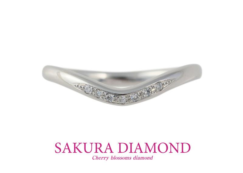 【JKPlanet(JKプラネット)】Pt900 さくらダイヤモンド セットリング