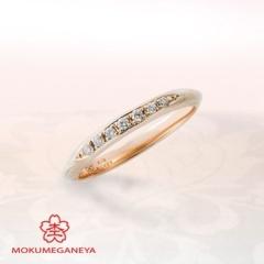 【JKPlanet(JKプラネット)】【杢目金屋】華やかなピンクゴールドとメレダイヤが可愛らしいリング