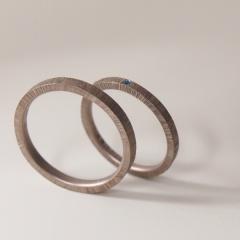 【mina.jewelry(ミナジュエリー)】ザクザク模様のマリッジリング