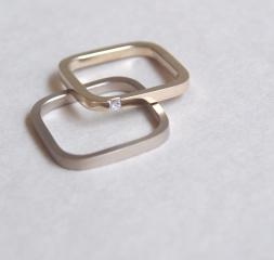 【mina.jewelry(ミナジュエリー)】シカクのシンプルマリッジリング