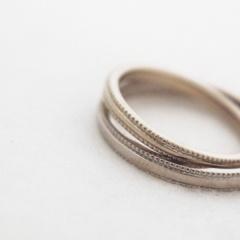 【mina.jewelry(ミナジュエリー)】ミルグレインのマリッジリング