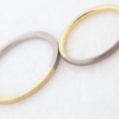 【mina.jewelry(ミナジュエリー)】付け心地にこだわった2色のリング