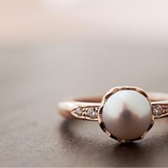 【mina.jewelry(ミナジュエリー)】パールのエンゲージリング