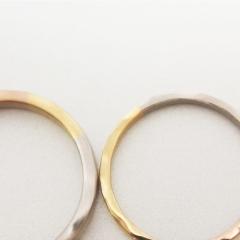 【mina.jewelry(ミナジュエリー)】3つのゴールドのマリッジリング