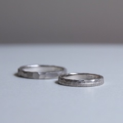 【mina.jewelry(ミナジュエリー)】好きなデザインを組み合わせたマリッジリング