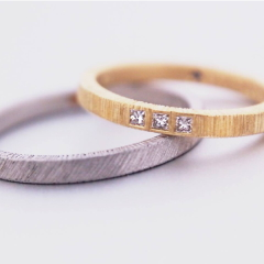 【mina.jewelry(ミナジュエリー)】平タガネのマリッジリング
