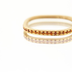 【mina.jewelry(ミナジュエリー)】シトリンのエタニティリング