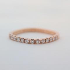 【mina.jewelry(ミナジュエリー)】ピンクゴールドのエタニティリング
