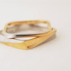 【mina.jewelry(ミナジュエリー)】シカクのねじりのマリッジリング
