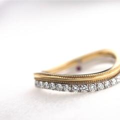 【mina.jewelry(ミナジュエリー)】ウェーブのエタニティリング