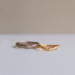 【mina.jewelry(ミナジュエリー)】溶かし加工のマリッジリング