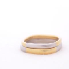 【mina.jewelry(ミナジュエリー)】金属を交換してデザインしたマリッジリング
