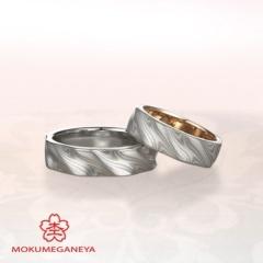 【杢目金屋(もくめがねや)】【杢目金屋】ふたりのこだわりを詰め込んだ結婚指輪