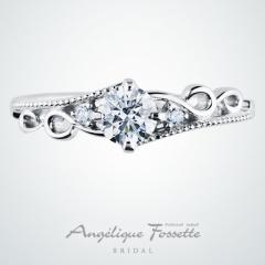 【アンジェリックフォセッテ(Angelique Fossette)】Ophiel【オフィエル】店名にちなみ天使の名前が付けられたエンゲージリング♪