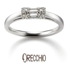 【ORECCHIO(オレッキオ)】スイートマジョラム~インビジブルセッティングと言う爪を使わない技法で作られた指輪