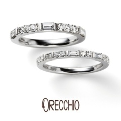 【ORECCHIO(オレッキオ)】<Siena>バゲットカットとラウンドカットの異なる輝きが美しいエタニティリング