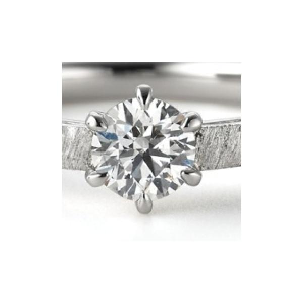 【ORECCHIO(オレッキオ)】アダージョ~オリジナルシルキー仕上げでマットでシンプルな婚約指輪