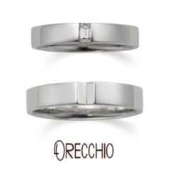 【ORECCHIO(オレッキオ)】<aman> 幅広で重厚感のあるデザインは男性の指にもなじみやすい結婚指輪