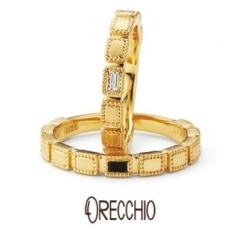 【ORECCHIO(オレッキオ)】<safari>結婚指輪 マットな質感×ミル打ちでアンティーク風なデザインの指輪