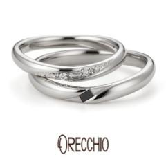 【ORECCHIO(オレッキオ)】スイートマジョラム~バゲットカットダイヤの輝き曲線を描くフォルムが美しい結婚指輪