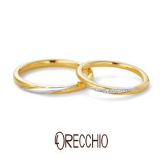 【ORECCHIO(オレッキオ)】カント~canto ストレートアームを斜めに走るプラチナのラインとダイヤモンドがポイント