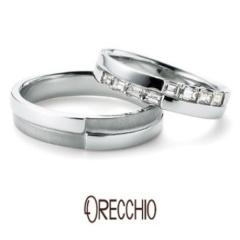 【ORECCHIO(オレッキオ)】<Siena> 幅のあるデザインとテクスチャーで存在感あふれる結婚指輪