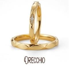 【ORECCHIO(オレッキオ)】ゼラニウム~ マーキス方のブロックが連なった動きのある軽やかな結婚指輪