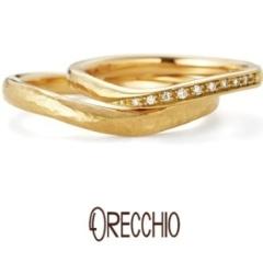 【ORECCHIO(オレッキオ)】カンパネラ ~オリジナルの細かいハンマー仕上げでアンティークな雰囲気の結婚指輪