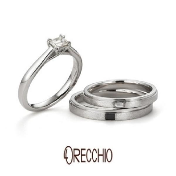 【ORECCHIO(オレッキオ)】ゲットウ~オリジナルのスターダスト仕上げと鏡面仕上げのコンビでシャープなデザイン