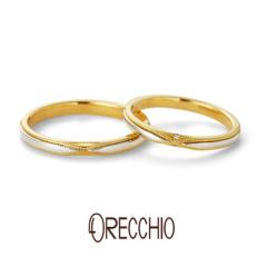 【ORECCHIO(オレッキオ)】★New★ セグイド~seguido クロスに走るミルグレインが指元を華やかに演出する結婚指輪