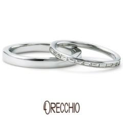【ORECCHIO(オレッキオ)】<Siena> バゲットカットのエタニティーリングは細身でエレガントな印象の指輪