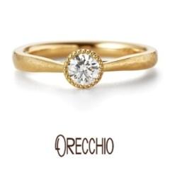 【ORECCHIO(オレッキオ)】カンパネラ ~オリジナルの細かいハンマー仕上げでアンティーク調の婚約指輪