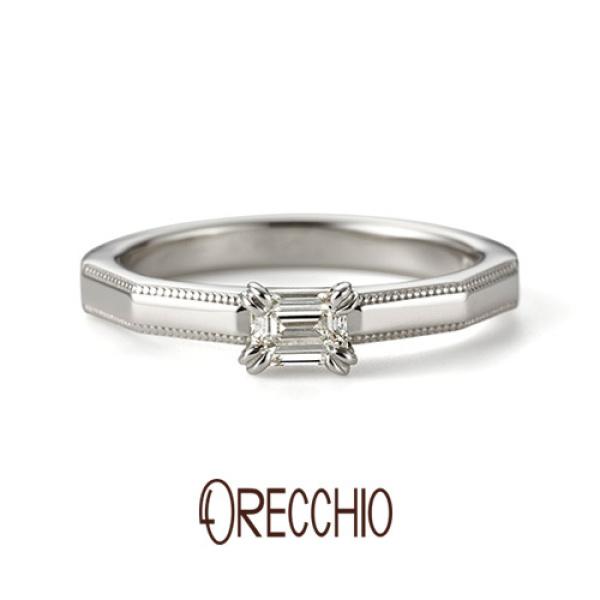 【ORECCHIO(オレッキオ)】★新作★ <safari~サファリ>婚約指輪 FE-1204-P