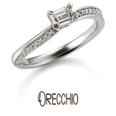 【ORECCHIO(オレッキオ)】イランイラン~お揃いの結婚指輪との重ね着けで指先を美しく演出してくれる婚約指輪
