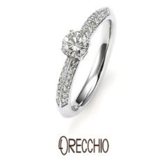 【ORECCHIO(オレッキオ)】<Siena> ゴージャスなパヴェが伝統的な美しさを感じさせてくれる婚約指輪