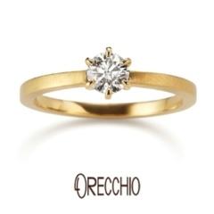 【ORECCHIO(オレッキオ)】<pipi> シンプルな立爪にエッジのきいた細身のアームが印象的な婚約指輪