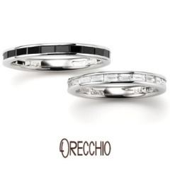 【ORECCHIO(オレッキオ)】<safari> バゲットカットブラックダイヤのエタニティはオレッキオだけ!