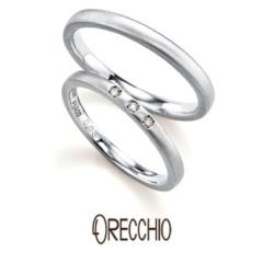 【ORECCHIO(オレッキオ)】<pipi> さりげなく光る3粒のダイヤモンドがシンプルでキュートな結婚指輪