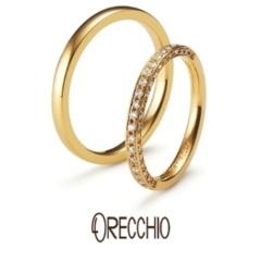 【ORECCHIO(オレッキオ)】<pipi> 細身のデザインの3面全てにダイヤを散りばめエタニティータイプの指輪