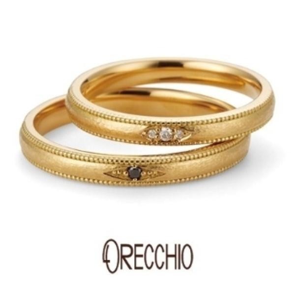【ORECCHIO(オレッキオ)】ベチバー~オレッキオオリジナルのハンマー仕上げでアンティーク風な結婚指輪
