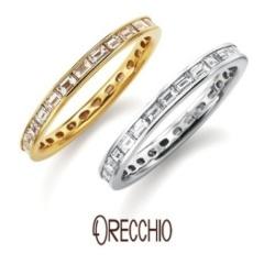 【ORECCHIO(オレッキオ)】<Siena>バゲットカットダイヤの澄んだ輝きが美しいエタニティーリング