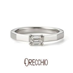 【ORECCHIO(オレッキオ)】★新作★ <safari~サファリ>婚約指輪 FE-1205-P