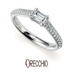【ORECCHIO(オレッキオ)】<siena> 敷き詰められたメレダイヤの輝きがエレガントな婚約指輪